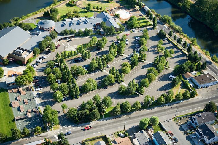 sustainable parking lot design - Google Search