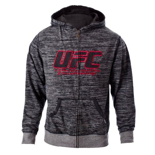 http://hotlistsports.com UFC Men's Black/Gray Twisted Zip Up Hoodie (Large) | What The Athletes are Sporting