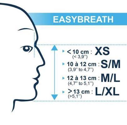 Maska na šnorchlování Easybreath modrá - Decathlon