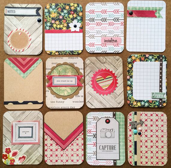 Love the look of fancy detailed project life cards, but started doing project life to save time? Then these cards are perfect for you! Get a dozen