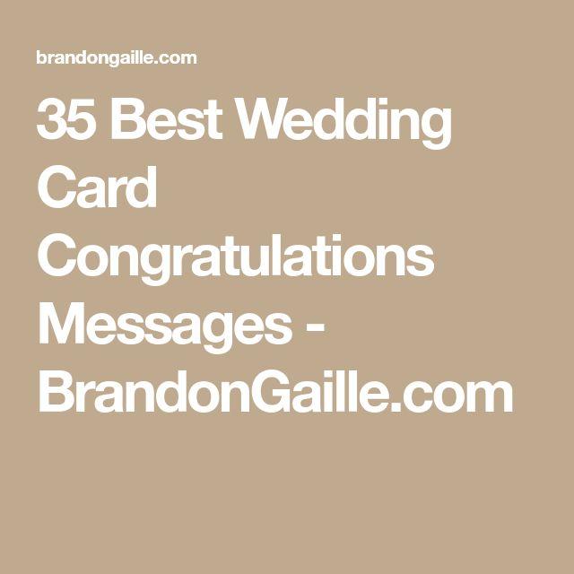 35 Best Wedding Card Congratulations Messages - BrandonGaille.com