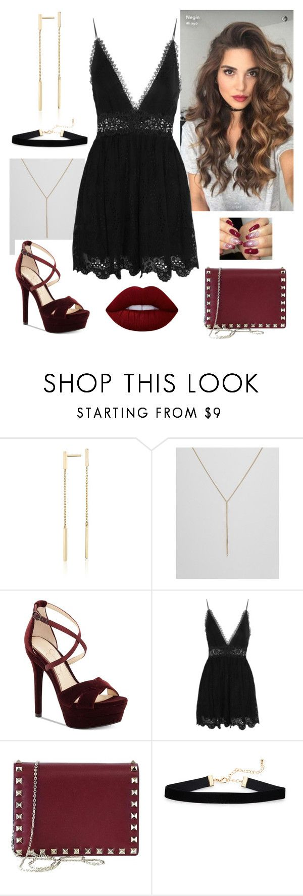 """""""New year night out"""" by paoladouka on Polyvore featuring Blue Nile, Fiorelli, Jessica Simpson, Zimmermann, Valentino and Lime Crime"""