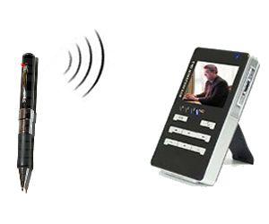 caméra cachée sans fil couleur dans un stylo - cmos - angle de vue 62°  - 380 ltv + mini dvr portable - 2,5