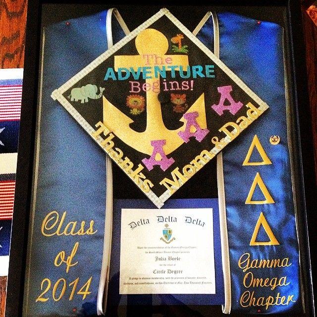 FAB keepsake idea ~ frame your cap, stole other graduation memorabilia!
