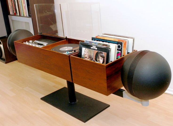 Unique record console - Decoist