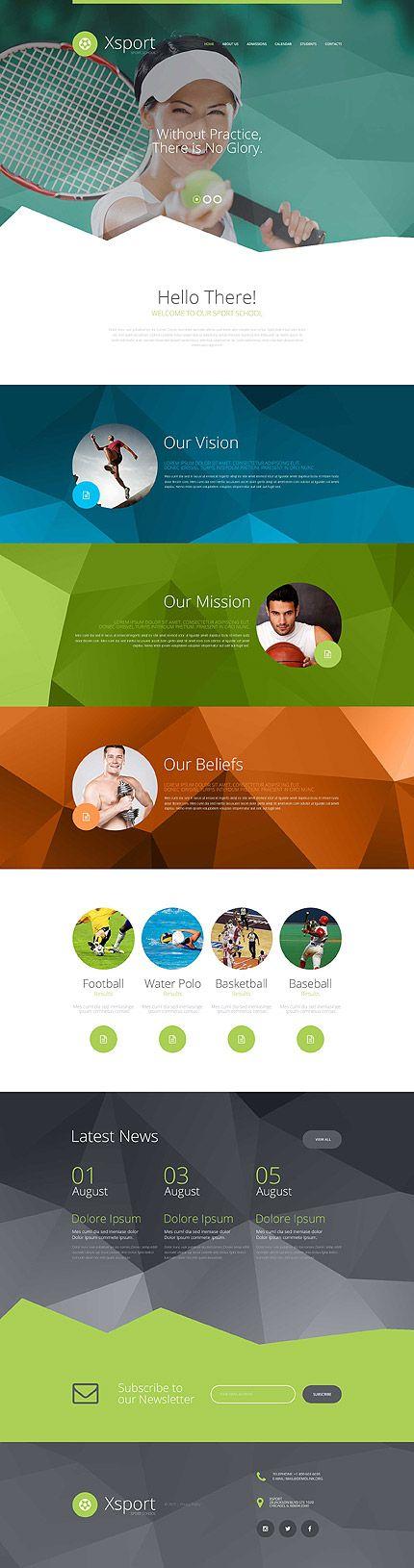Sports School #website #template. #themes #business #responsive #websitethemes