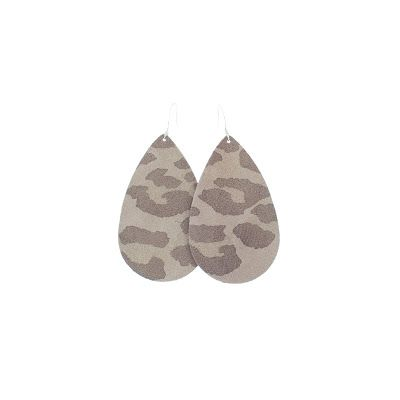 Snow Leopard Suede Nickel & Suede Leather Earrings- These lightweight suede earrings add just the right amount of pattern to an outfit- and the gray tones literally go with everything.