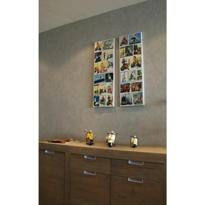 Canvas retro fotocollage kleur - Stijlvolle & Betaalbare Wanddecoratie | wanddecoratiestore.be