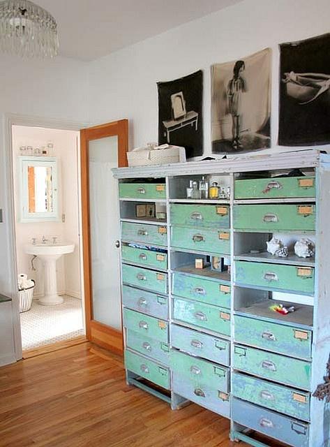 mint green drawers