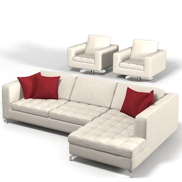 Natuzzi Savoy Sectional Ecke Getuftet Sofa Stuhl Sessel Drehsessel