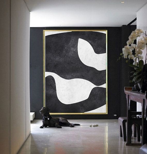 Large Abstract Painting On Canvas Minimalist by Celine Ziang Art | Frey | INSPO