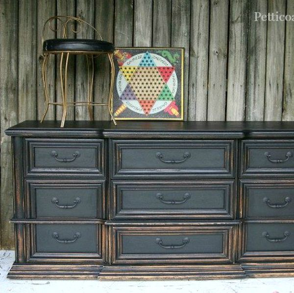 best 25 black distressed dresser ideas on