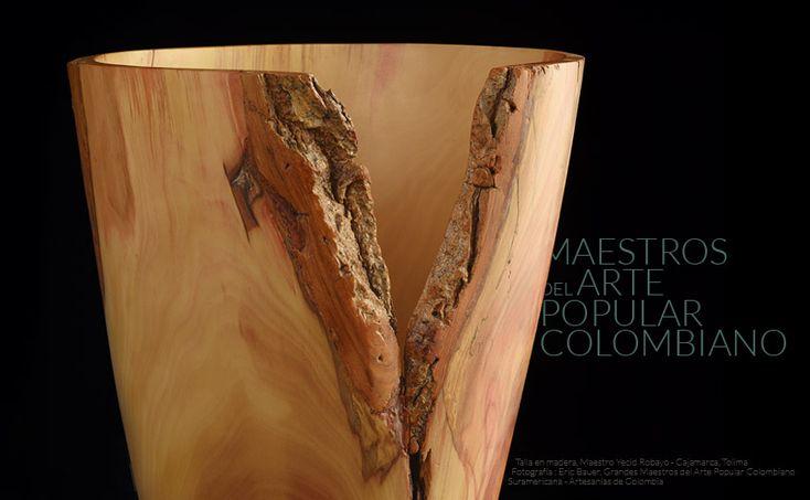 Talla en madera, Yecid Robayo Cajamarca, Tolima, Colombia Maestros del Arte Popular Colombiano