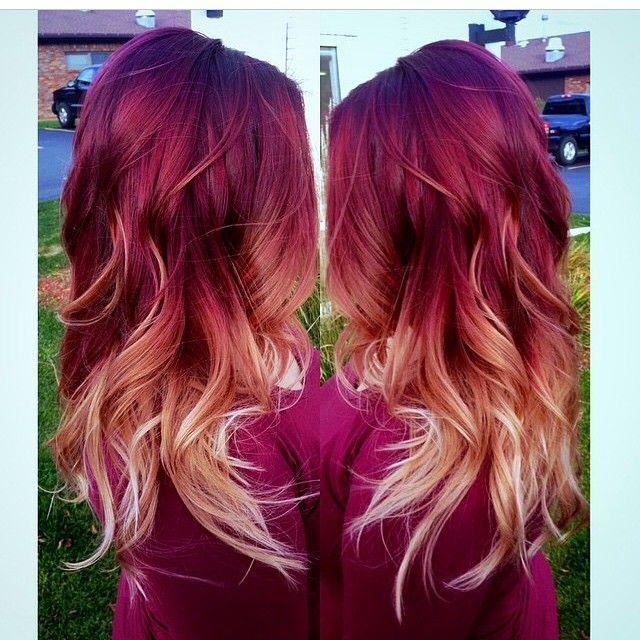 Incredible 25 Best Ideas About Burgundy Blonde Hair On Pinterest Burgundy Hairstyles For Men Maxibearus