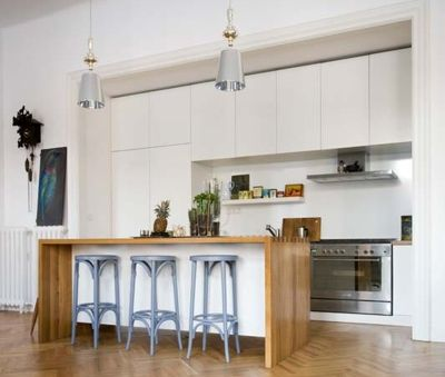 Citypark's cool kitchen with an island