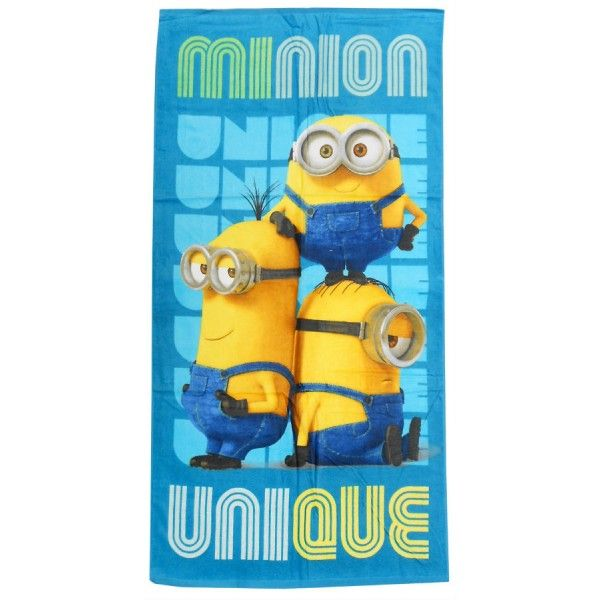 Minions badehåndklæde med motiv af de søde Minions