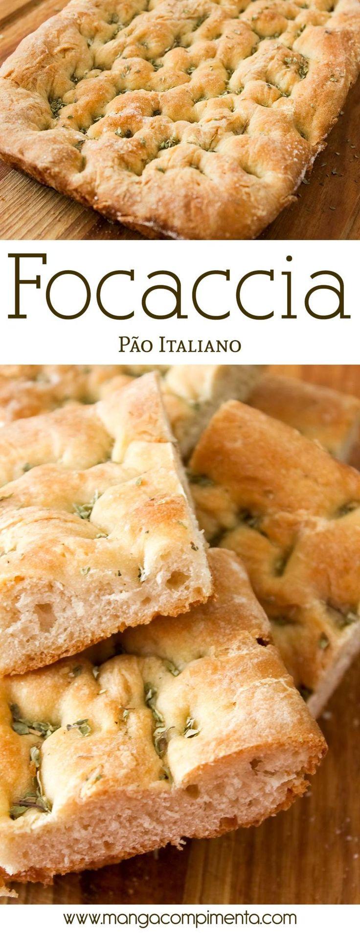 Focaccia – Pão Italiano para comer no chá da tarde ou café da manhã! #receita #pão #comida