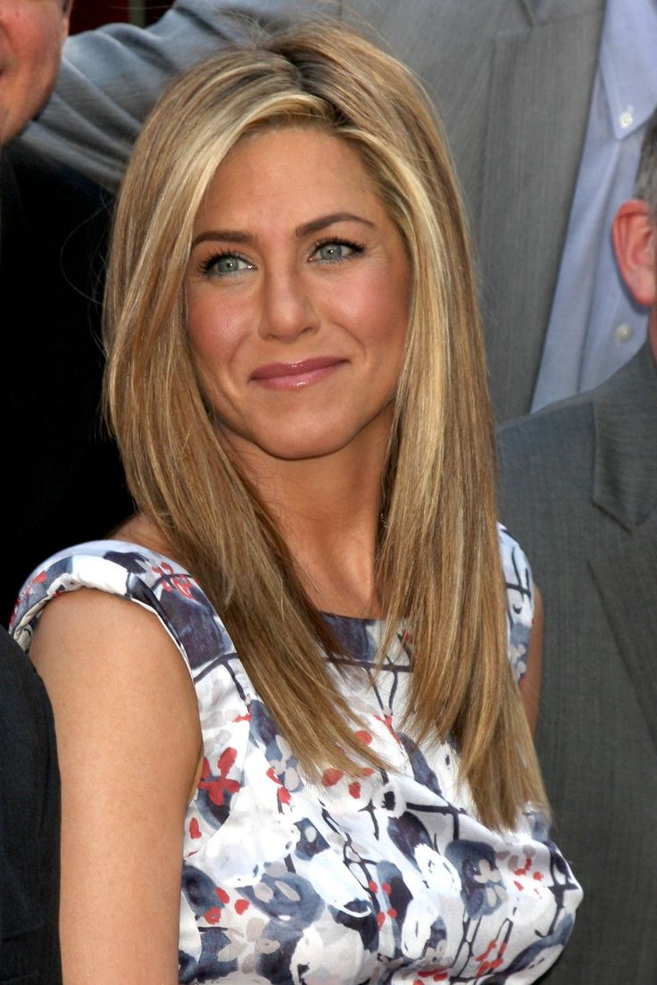 blonde hair | ... Aniston floral cap sleeve dress honey blonde hair photo | Posh24.com