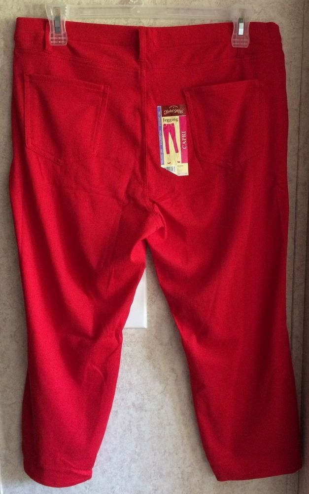 831137511fc3ef Faded Glory Womens Capri Jeggings Pull On Super Stretch New Size XXL 2XL 20  Red #fashion #clothing #shoes #accessories #womensclothing #pants (ebay  link)