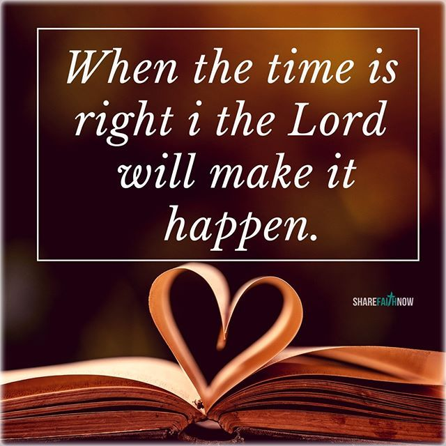 Image result for The Lord is On Time