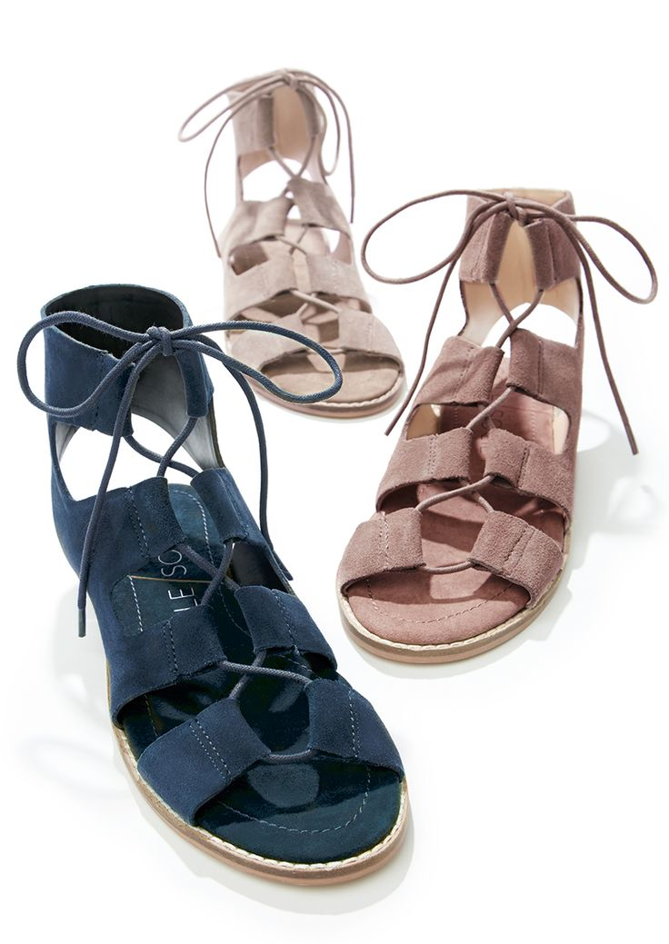 Suede lace-up sandals | Sole Society Cady