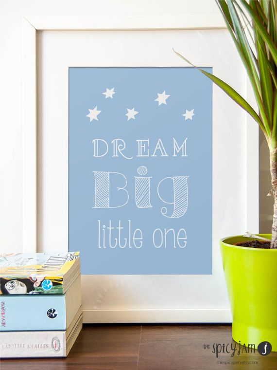 Dream Big Little One Dream Big Wall Decor Nursery Decor Diy