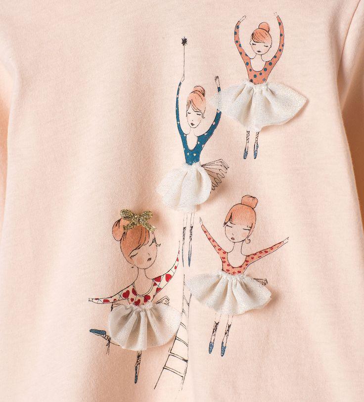 Frilly ballerina top - T - shirts - Baby girl | 3 months - 4 years - KIDS | ZARA United Kingdom