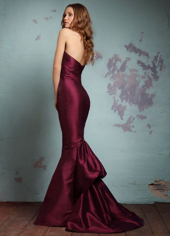 Contemporary Bridesmaid Collection from Alvina Valenta | Wedding Inspiration Trends  Love the back of this dress also