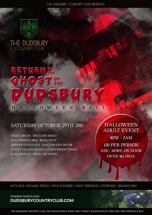The Return of the Ghost of the Dudsbury – Halloween Adult Ball