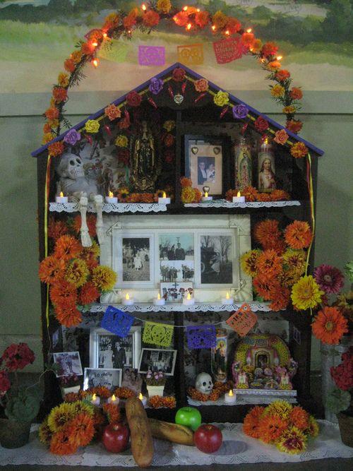 Dia de los Muertos altar.