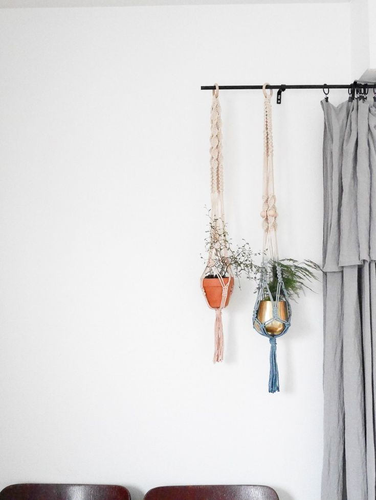Les 25 meilleures id es de la cat gorie suspension macram sur pinterest macrame diy plante - Faire macrame suspension ...