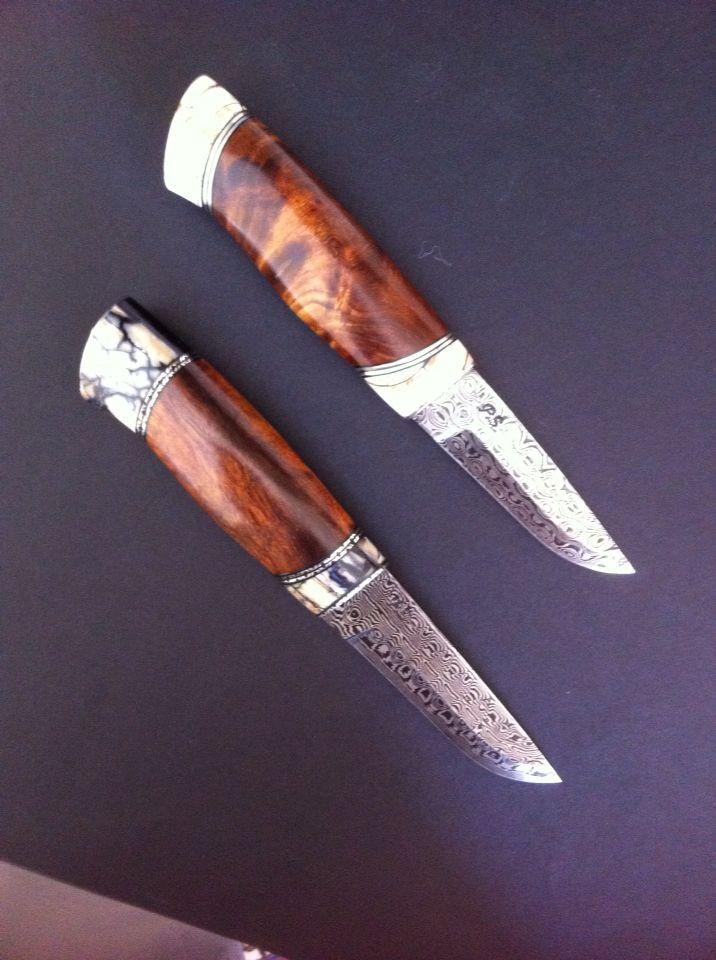 Nogle af mine håndlavede knive