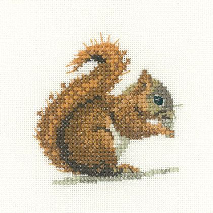 Little Friends: Red Squirrel From Heritage Stitchcraft - Cross Stitch Charts - Embroidery - Casa Cenina