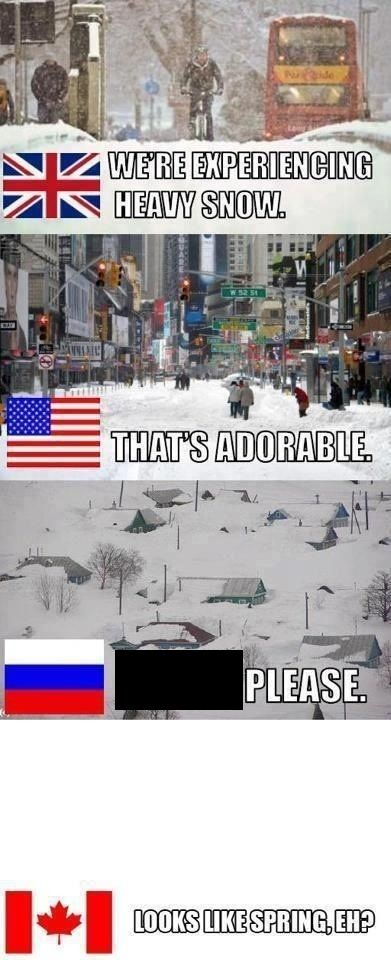 Meanwhile in Canada... We still have like 6foot of snow xD