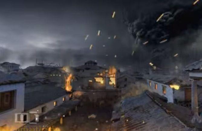 Εντυπωσιακό βίντεο από τις τελευταίες ώρες της Πομπηίας