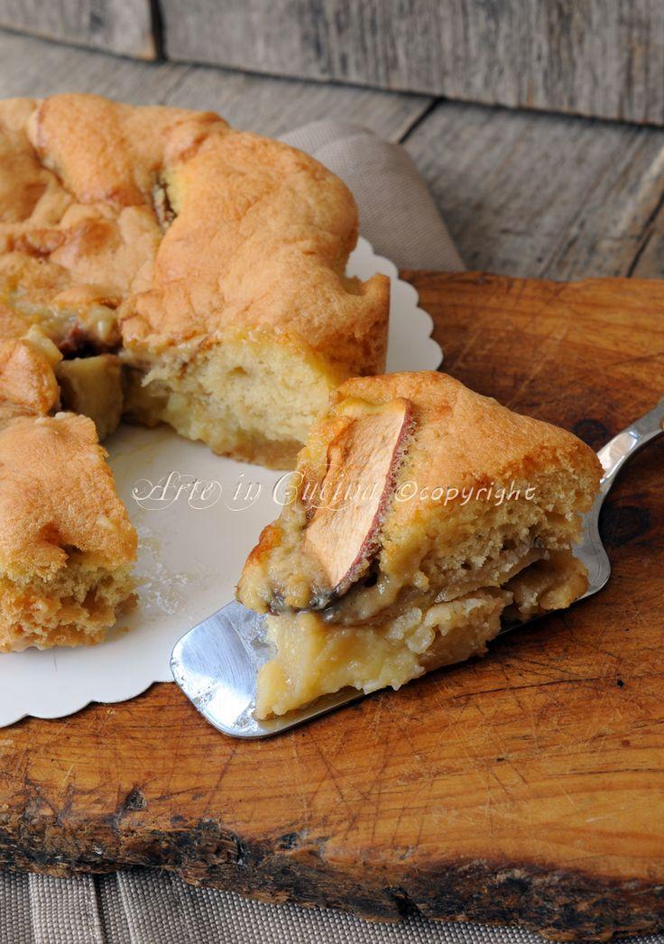 Torta di mele con crema pasticcera morbidissima vickyart arte in cucina