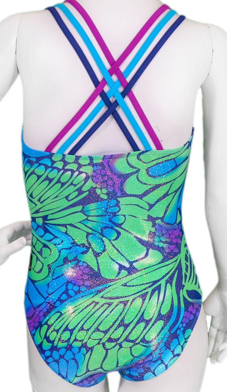 Destira: Butterfly Wings Woven Back Leotard #leotards #gymnastics #leotard #gymnast