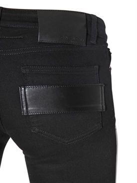 givenchy - women - pants - stretch nappa leather & denim jeans