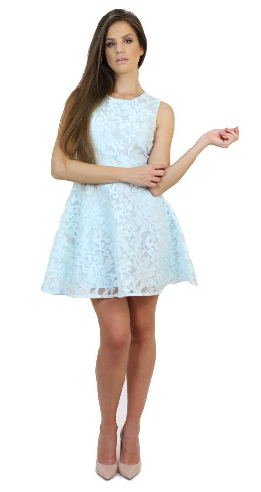 Blue Lace Dress....perfect for engagement parties and weddings. Available at: http://famevogue.ro/haine_femei_85/rochii_86/rochie_imprimeu_baroc_20  #moda #shopping #lace #dress #ffashion #style
