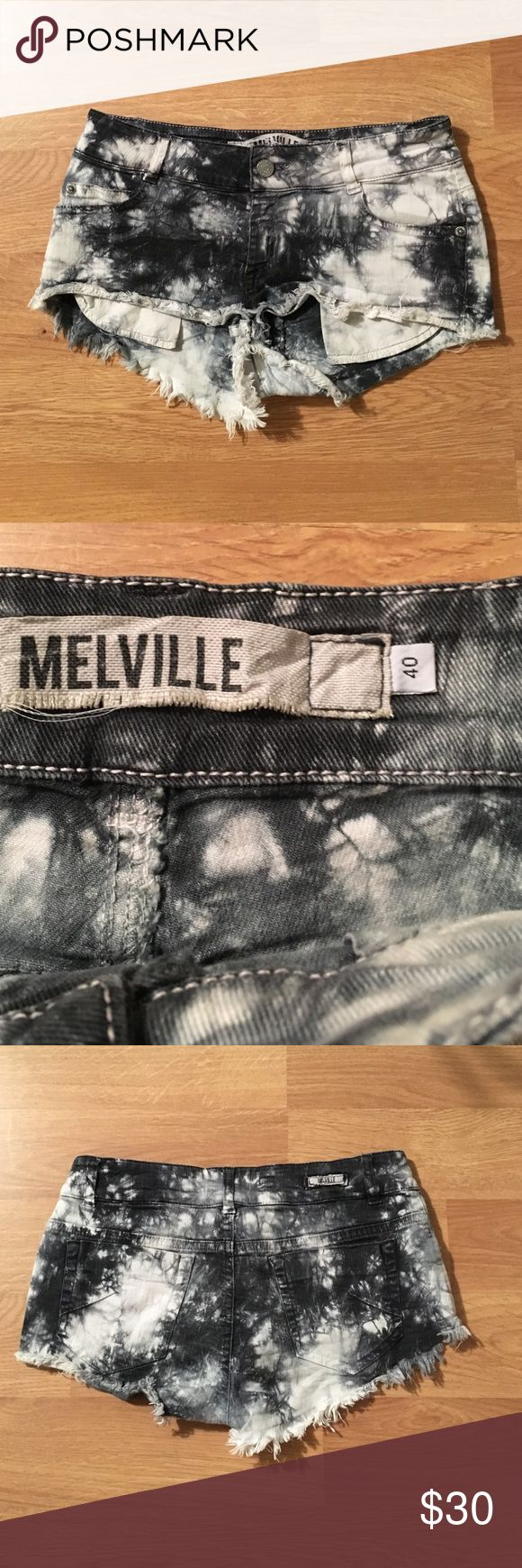 Brandy Melville shorts Brandy Melville tye dye denim shorts- size is 40-colors are black and white. Great fit- perfect for summer. Brandy Melville Shorts Jean Shorts