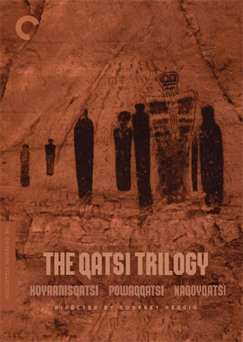 "The Qatsi Trilogy (Godfrey Reggio): ""From 1983's Koyaanisqatsi to 1988's Powaqqatsi to 2002's Naqoyqatsi, The Qatsi Trilogy takes us on a journey from the ancient to the contemporary, from nature to industry, exploring life out of balance, in transformation, and as war, all the while keeping our eyes wide with wonder."""