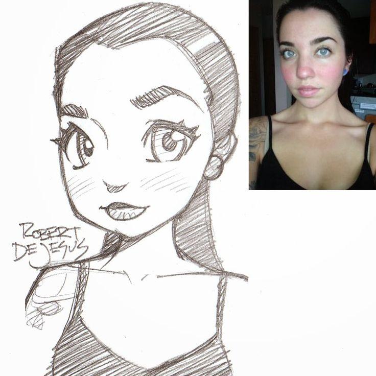 Arte no Papel: Arte no Papel, Pessoas desenhadas como se fossem animes