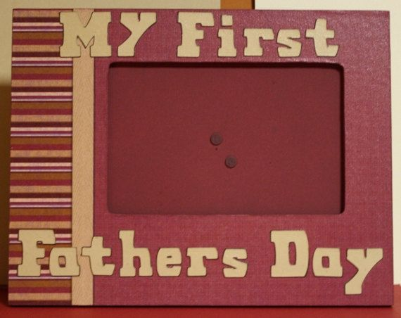 My First Fathers Day picture frame on Etsy, $15.00
