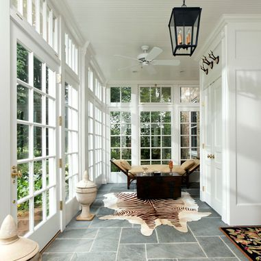 Lovely Sunroom with French Doors