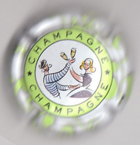 capsule champagne générique GUINGUETTE, cercle vert