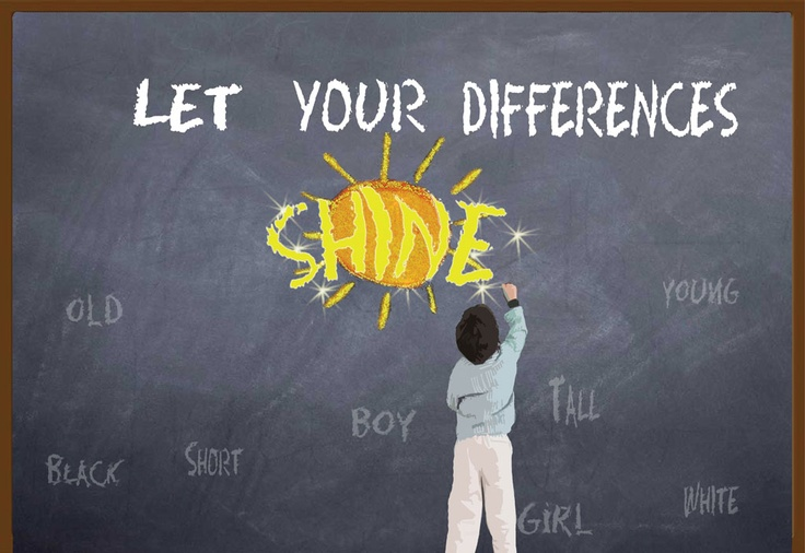 """""""Letting Your Differences Shine"""" by Paige F., 11th Grade, Port Huron, Michigan, 2012 Embracing Our Differences Exhibit, via embracingourdifferences.org"""