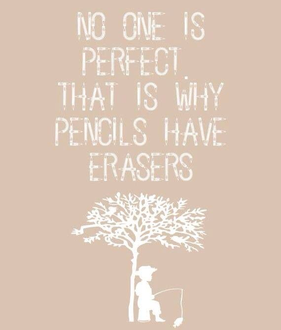 No one is perfect...
