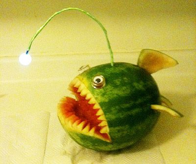 watermelon carving - fish