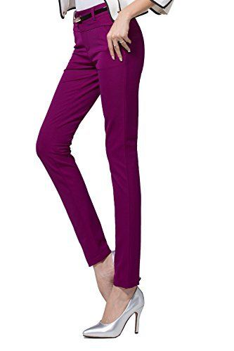 New Trending Pants: Juniors Slim Stretch Casual Skinny Pants(M,Purple). Junior's Slim Stretch Casual Skinny Pants(M,Purple)   Special Offer: $29.99      299 Reviews Faux double waistband front creates smooth stomach Crafted out of cut and sew appears high-quality produc The kinds of plain pant wears well and not wrinkly easily Pants before sewing request...