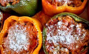 Flow Magazine - Γεμιστές ντομάτες και πιπεριές με κιμά